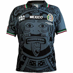 Details about 1998 Mexico Black Away Retro Soccer Futbol limited edition Jersey S,M,L