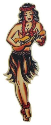 Hula Girl Hawaii Tattoo Flash Sailor Jerry  Sticker Scrapbook Crafts Party Vinyl