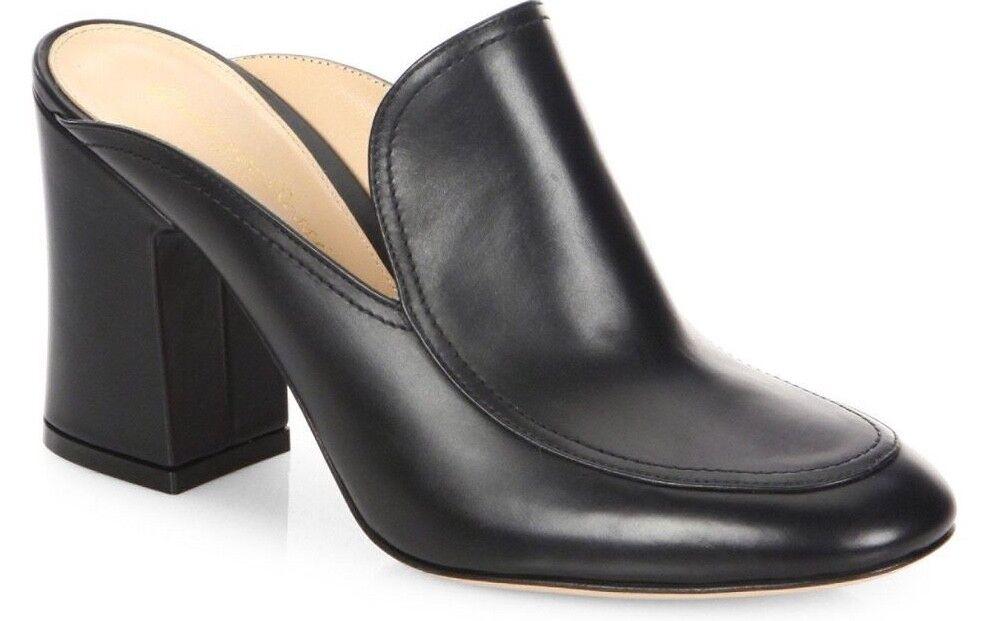 il più economico NIB Gianvito Rossi nero Leather Sandal Chunky Block Block Block Heel Mule avvioie Pump 38  garantito
