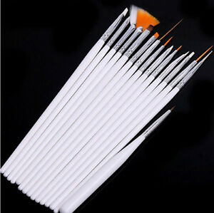 15pcs-White-Brush-Nail-Art-UV-Gel-Drawing-Dotting-Acrylic-Painting-Pen-Polish-SP