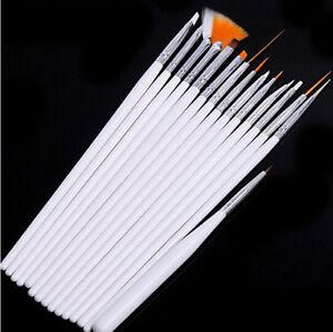 15pcs-White-Brush-Nail-Art-UV-Gel-Drawing-Dotting-Acrylic-Painting-Pen-Polish-SP