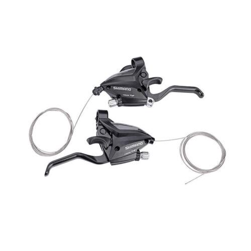 SHIMANO Bike Brake Shifters Sets Brake Levers/&Shift Levers 3x7//8speed Black