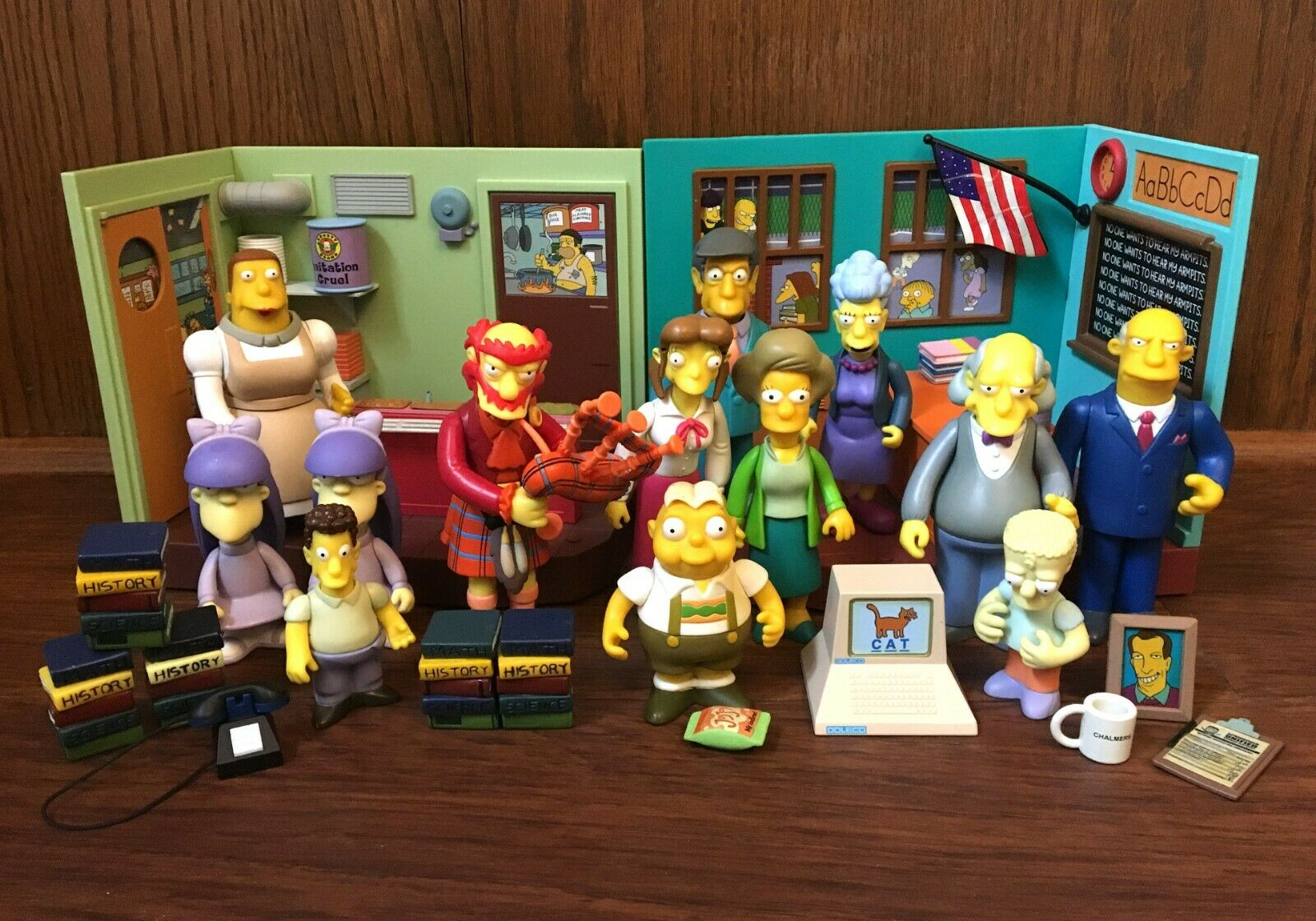 Simpsons WOS Playmates Figures Playsets Masse unserefield Elementary Cafeteria