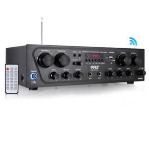 Bluetooth-Audio-Amplifier-4-Ch-Audio-Source-Stereo-Receiver-System-PTA42BT