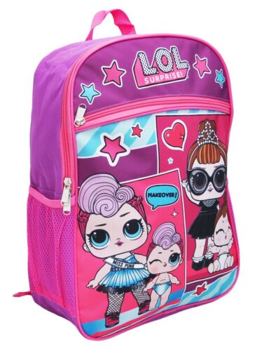 "L.O.L NWT Backpack LOL Surprise Dolls BookBag 16"" Licensed RUZ Girls"