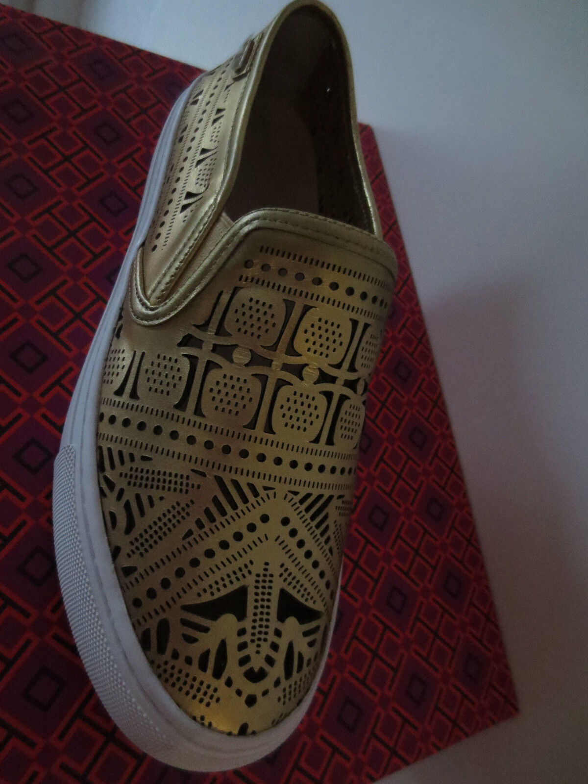 TORY BURCH Leder Sneakers Bronze Metallic Gr.40,5 *  9,5 Leder BURCH Schuhe Sneaker 12168241 123cf3
