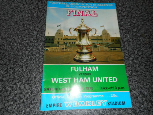 1975 F.A.CUP FINAL FULHAM v WEST HAM UNITED WEMBLEY MAY 3rd FREE POST