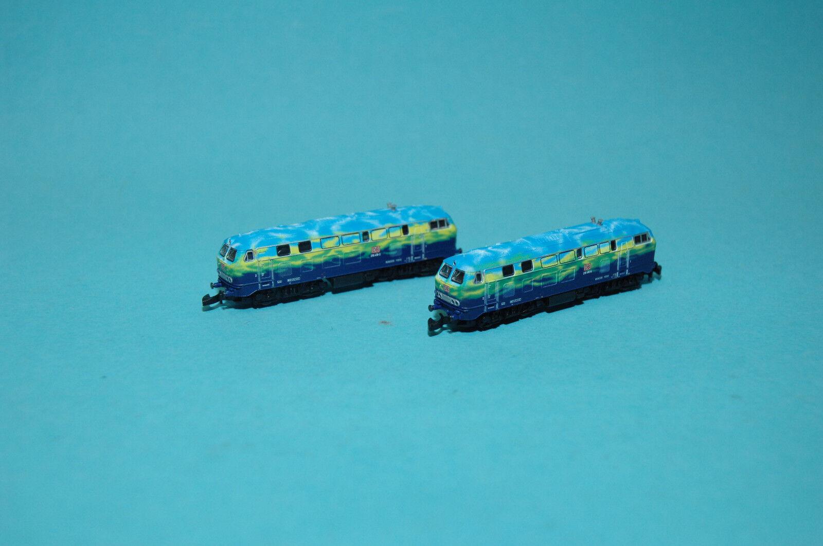Märklin 88789 Diesel Confezione Doppio BR 218 DBAG Touristik locomotive Traccia Z NUOVO