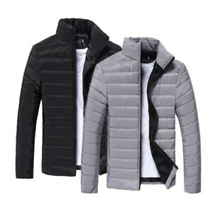 Men-039-S-Down-Jacket-Collar-Thickened-Warm-Zip-Up-Winter-Outwear-Casual-Coat-M-3Xl