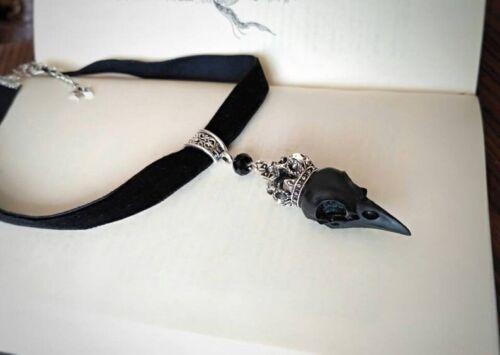 Gothic Velvet Choker Necklace Raven Skull Crown Victorian Vintage Choker