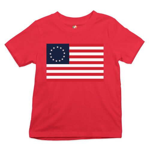 The Betsy Ross Flag Youth T-shirt 4th of July 1776 American Flag USA Kids
