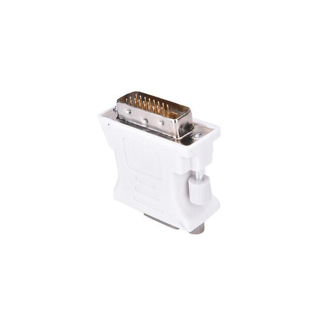 Adaptateur mâle DVI-D 24 + 1 broches vers convertisseur vidéo femelle VGA