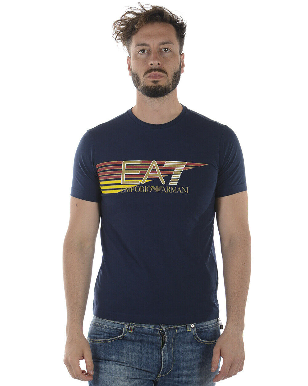 Emporio Armani EA7 T Shirt Sweatshirt Man Blau 3ZPTA0PJM5Z 1554 Sz M MAKE OFFER