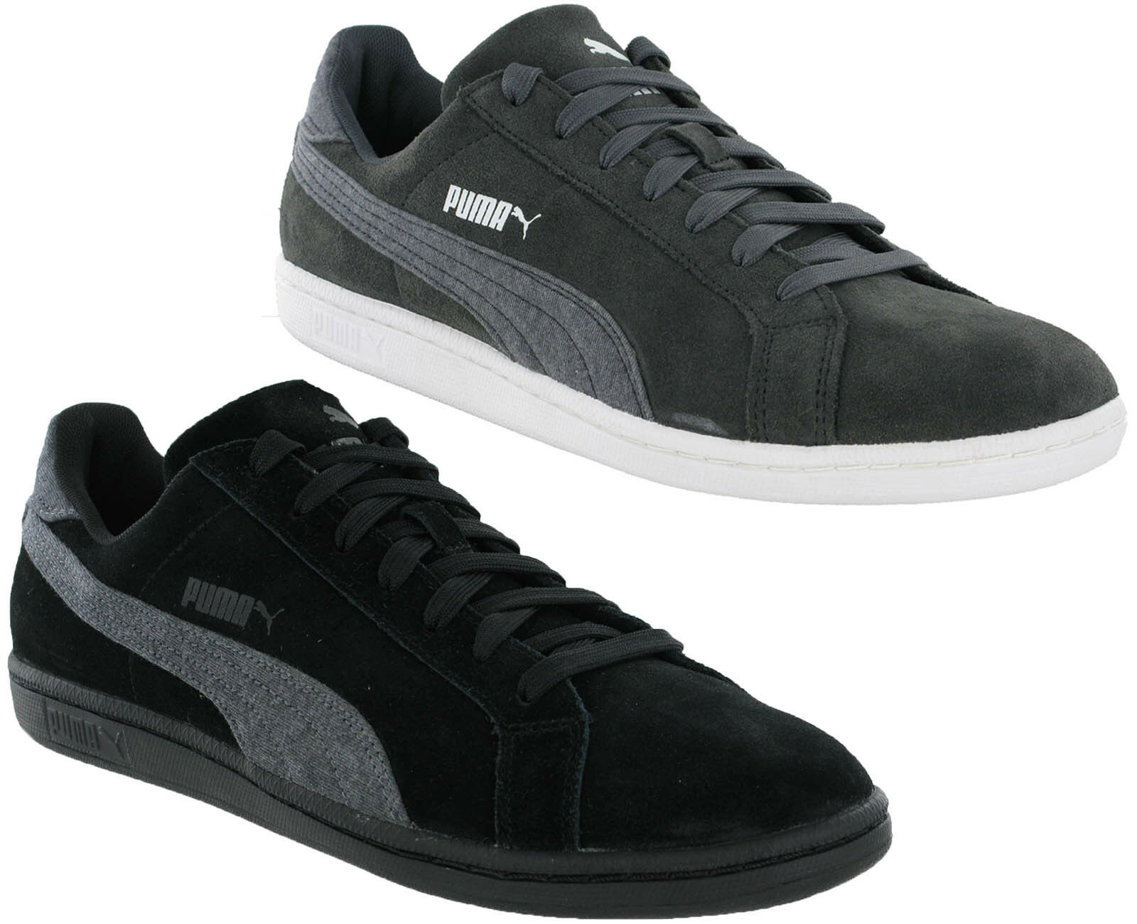 Puma Suede Classic Smash Jersey Leather homme Trainers  Gris , noir