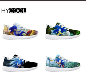 New Sonic The Hedgehog Kids Sneakers Gaming 30 New Designs 2020 Size Youth 11 3 Ebay