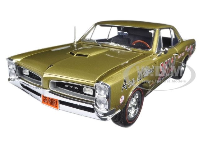 ACE WILSON'S ROYAL 1966 PONTIAC GTO TIGER DRAG CAR COPPER 1/18 BY ACME A1801206
