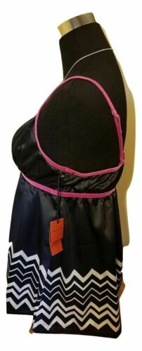 Black /& White Chevron design Details about  /Missoni Satin Camisole Cami Top Shirt