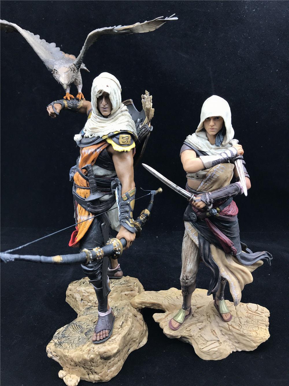 NOUVEAU PVC Assassin's Creed Origins Collection ACO bayek Aya Statue Figure