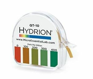 Hydrion-QT-10-0-400ppm-Quat-Check-Test-Strips-Paper-Dispenser