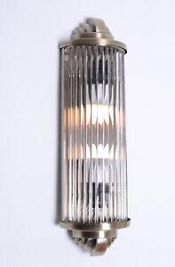 Art-Deco-Kinoleuchte-Wandlampe-Wandleuchte-Klassik-Leuchte-Kinolampe-CHROM-GLAS