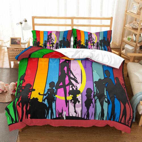 3D Japanese Anime Duvet Cover Bedding Set Quilt//Comforter Cover Pillow Case