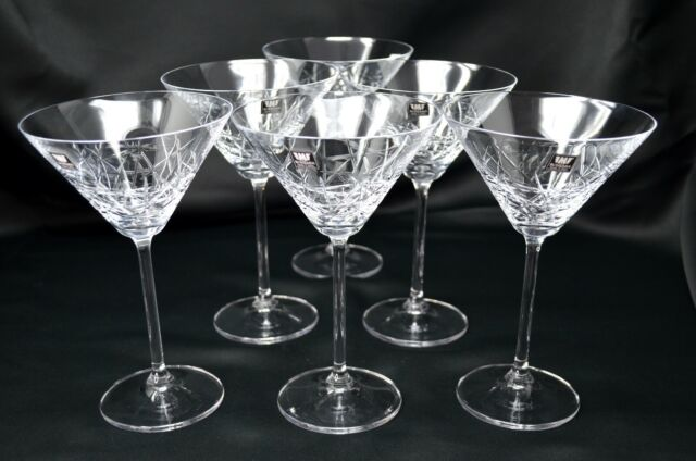 Crystal glass Martini set of 6 Cocktail Wine Champaign Glass 9oz Wedding glasses