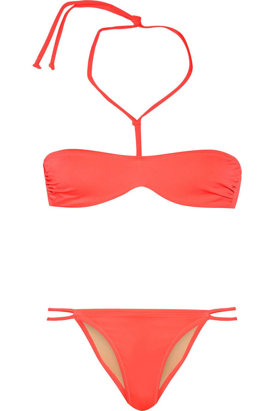 Agent Agent Agent Provocateur l'agent liiana Reggiseno Bikini colore corallo Neon brasiliano Breve Set S L f37d1e