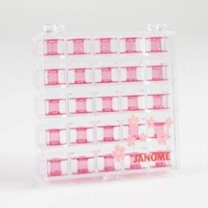 Janome-Sewing-Machine-Pink-Cherry-Bobbins-with-Storage-Case-New