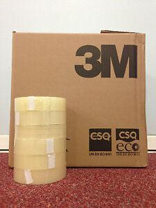 """3M SCOTCH CLEAR TAPE 1"""" x 66M (25MM x 66M) 1, 6, 12, 18, 24, 36, 72, 144 ROLLS"""