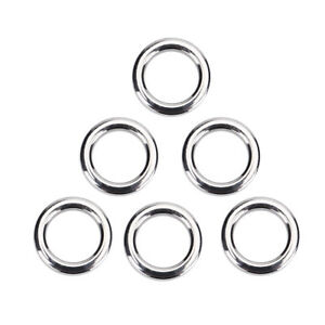 50 x Fishing Split Ring Stainless Steel Lure Tackle Connector Double Loop