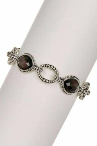"Lagos Vénus Bracelet Black mother-of-pearl STERLING SILVER CAVIAR 7/"" L"