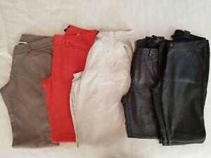 Lote 5 Pantalones Cuero Brillantes Corte Vaquero Algodon H M Zara Dickies Ebay
