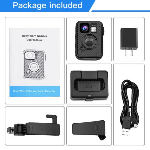 Boblov HD 1440P Police Body Worn Camera 64GB GPS WiFi Security Pocket Recorder