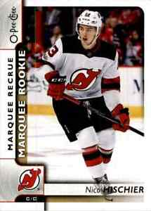 2017-18 O-Pee-Chee Marquee Rookie Nico Hischier Rookie #649