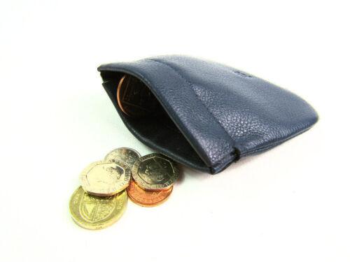 Da Uomo Donna Super Soft Vera Pelle Snap Top Coin Pouch borsa portafoglio titolare della carta