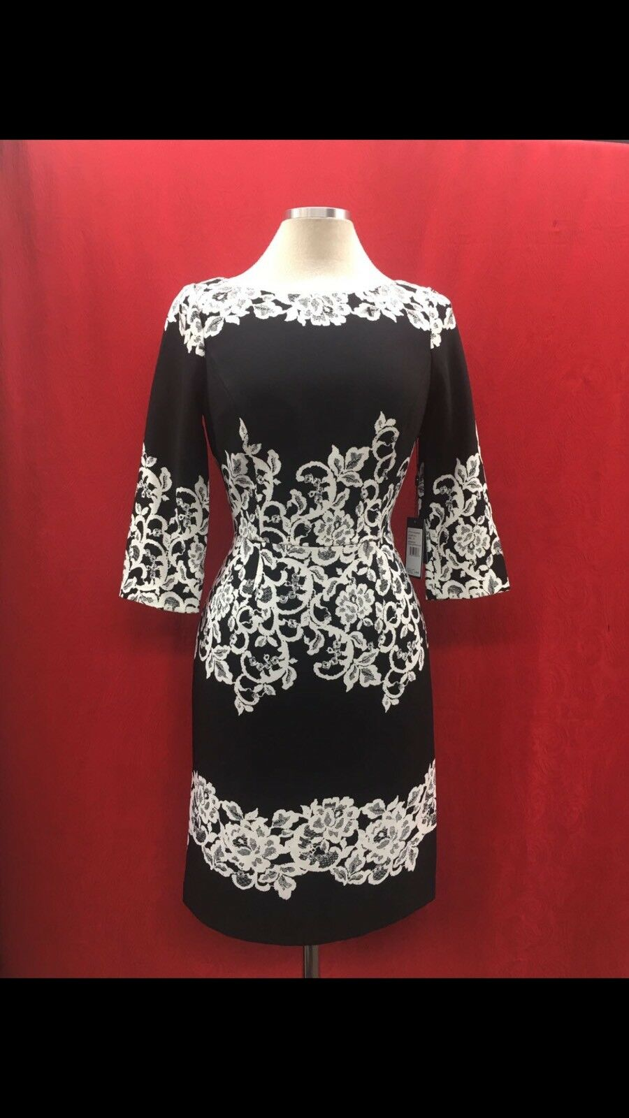 ADRIANNA PAPELL DRESS NEW WITH TAG SIZE 12 RETAIL LINED LENGTH 41