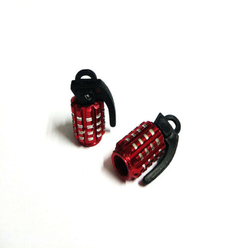 2x Red Aluminum Motorcycle Wheel Tire Tyre Valve Stem Caps For Harley-Davidson