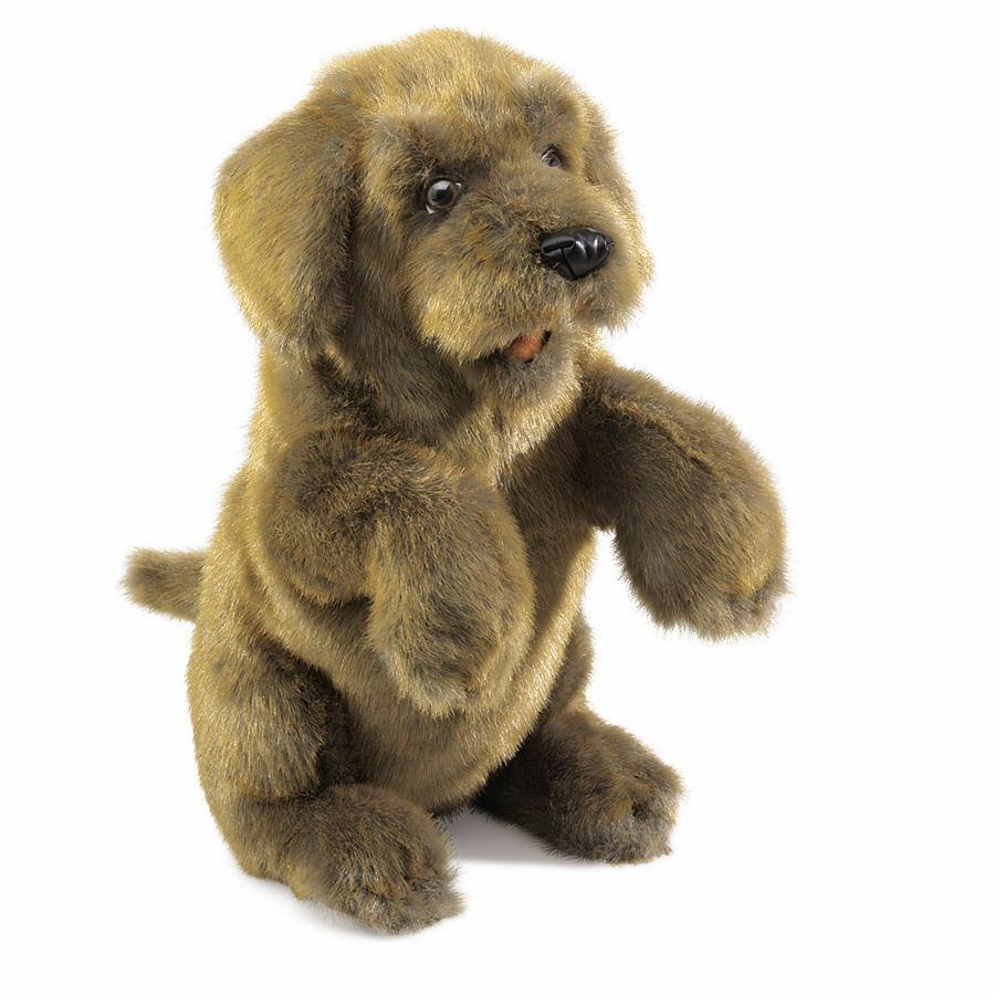 Folkmanis Handpuppe Hund sitzend 2006  | Mama kaufte ein bequemes, Baby ist glücklich