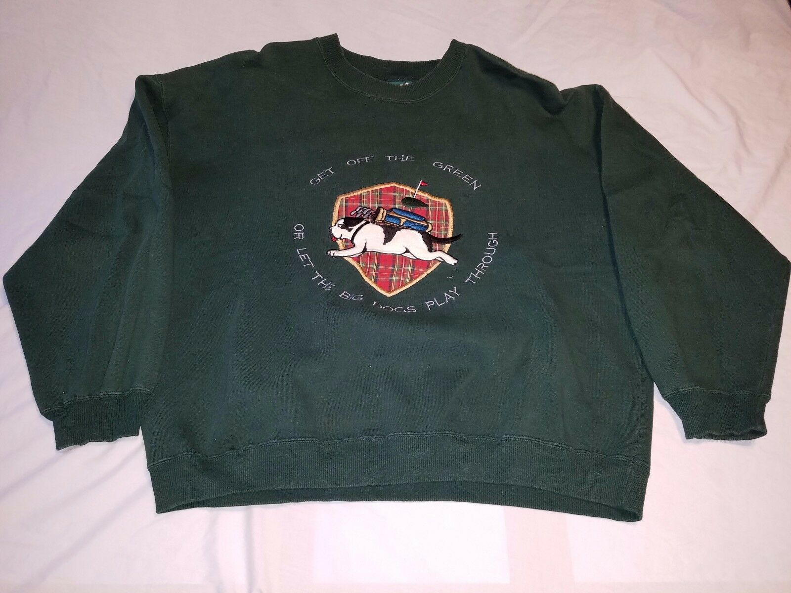 Vintage Big Dogs Get Off The Green Let Big Dogs Play Men's Sweatshirt Size M