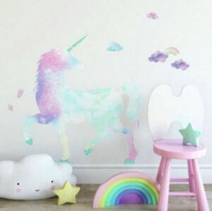 Image Is Loading Galaxy Unicorn Giant 35 034 Wall Decals Rainbow