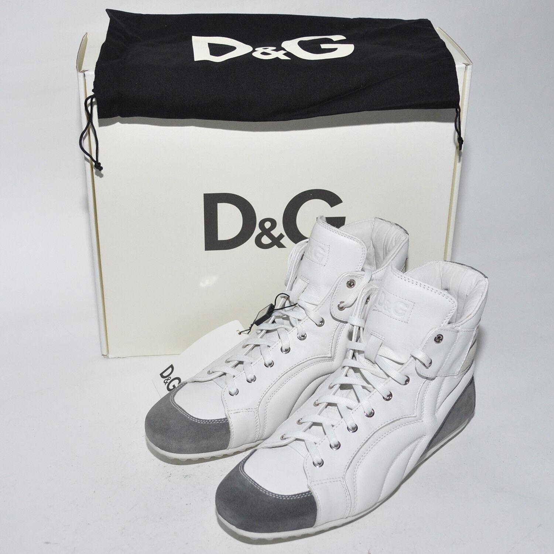 Dolce&Gabbana Schnürer D&G Boots Weiß Schuhe D&G Herren Gr. 41-44,5 UVP: 510