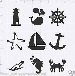 Details about Reusable Mylar Nautical Sea Stencil Template for Crafting  Canvas decor Wall art