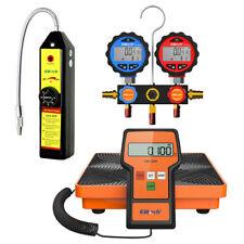 Elitech Hvac Tools Set Refrigerant Leak Detector Charging Scale Manifold Gauge