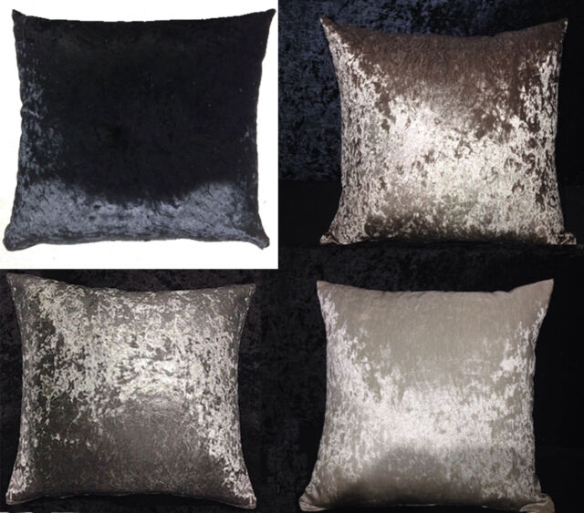 Shiny Crushed Velvet Square Cushion Covers Zip Close 40x40 40x40 Fascinating 22 Square Pillow Covers