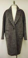 BY MALENE BIRGER Grey Mohair & Alpaca Wool Knee Length Coat Size UK 8 FR 36