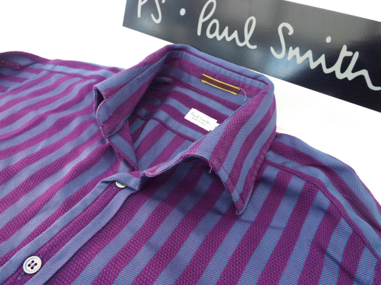 PAUL SMITH Männers MAINLINE Hemd  Größe 15  (CHEST 38 )  +STRIPED