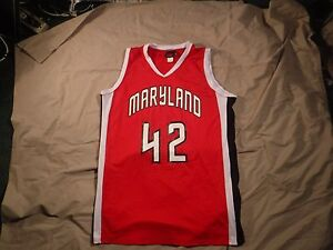 huge inventory 73347 24503 Details about New Vintage Wilson Maryland Terrapins Basketball Jersey #42  Womens L Red