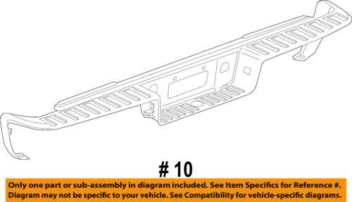 GM OEM Rear Bumper-Step Pad Protector Scratch Guard Cover 23108158