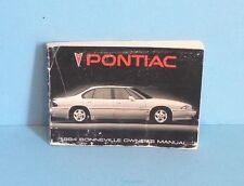 94 1994 Pontiac Bonneville owners manual