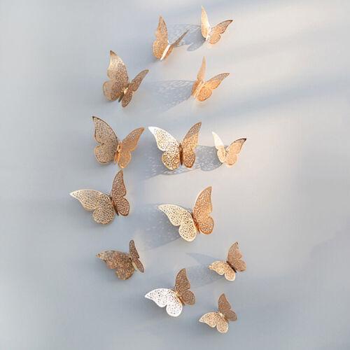 12Pcs 3D Butterfly Wall Sticker Wall Decal Home Room Art Wall Decoration
